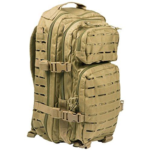 Mil-tec zaino militare tattico laser cut molle us assault - small - camo tan desert (coyote)