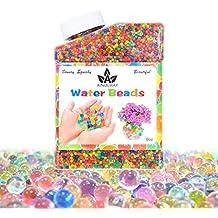 ainolway perlas de agua, 260ml (más 30,000pcs) bolas de cristal cada vez mayor por arte de magia sensorial para niños juegos juego