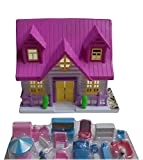 Mini Doll House One Sided With Accessories