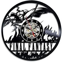 YXT Final Fantasy Vinyl Record Wall Clock Home Decor Wall Clock