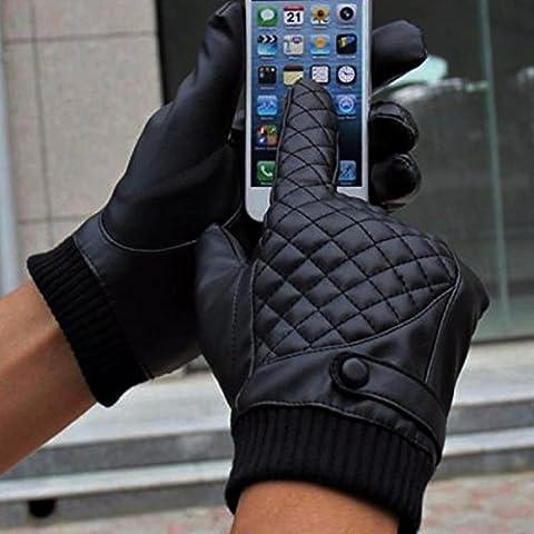 MaMaison007 Los hombres deportes Touch pantalla guantes equitación guantes invierno térmico cálido
