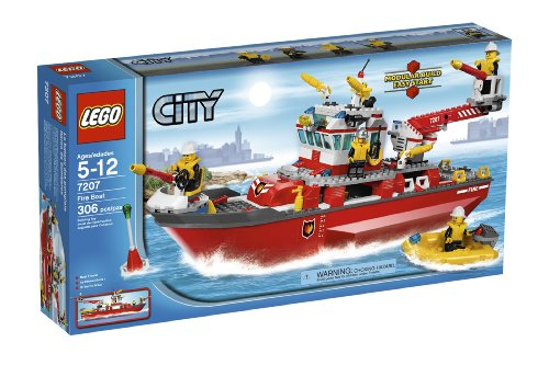 LEGO-City-Fire-Ship-7207