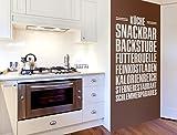 Lustige Wandtattoo Küchensprüche Worte für die Küche Wanddeko Küchendeko