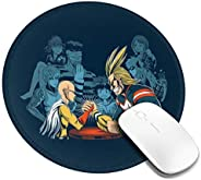 My Hero Academia Mouse Pad, Round Mouse Mat, Cute Anime Mouse Pad with Design, Waterproof Office Mouse Pad, Sm