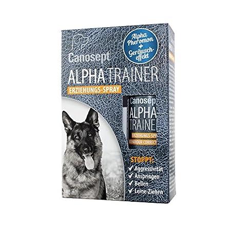 Canosept Alpha Trainer Erziehungs-Spray für Hunde 40ml – Natürliches Dominanz-Pheromon – Stoppt effektiv unerwünschte…