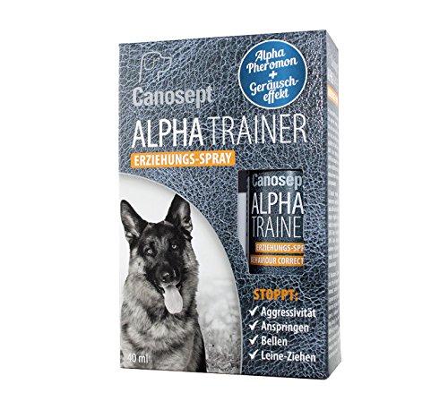 Canosept Alpha Trainer Erziehungs-Spray/Pheromon + Geräuscheffekt/Stoppt effektiv unerwünschte Verhaltensweisen Bei Hunden