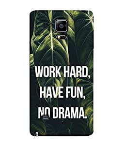 Snapdilla Designer Back Case Cover for Samsung Galaxy Note 4 :: Samsung Galaxy Note 4 N910G :: Samsung Galaxy Note 4 N910F N910K/N910L/N910S N910C N910Fd N910Fq N910H N910G N910U N910W8 (Closeup Texture Text Quotation Background)