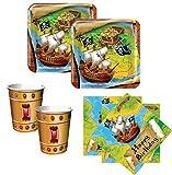 48 Teile Piraten Party Set Motiv Schatzsuche für 16 Kinder