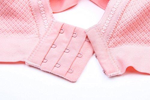 Ancdream Soutien-gorge de sport - Sans armature - Femme Beige