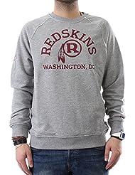 Vintage new era wASHINGTON rEDSKINS crew pull pour homme gris