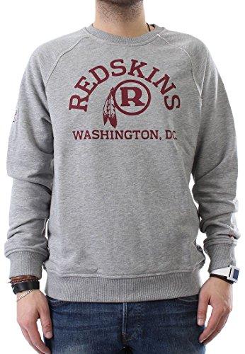 New Era WASHINGTON REDSKINS Crew felpa uomo Vintage Heather Grey grigio m