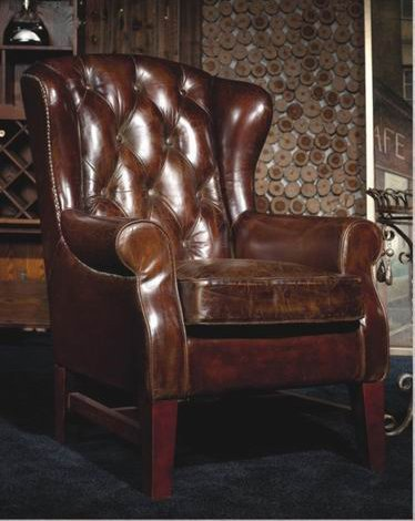 Ohrensessel Chesterfield Vintage