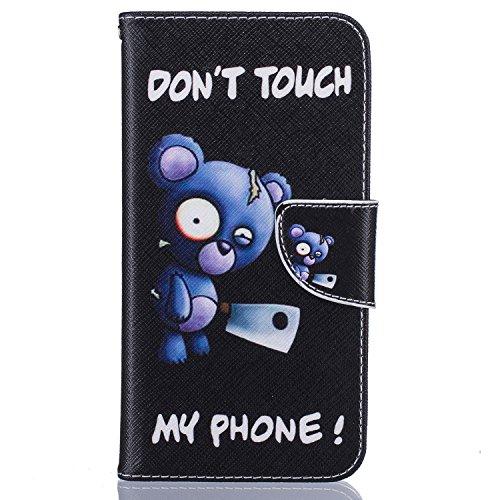 CaseHome alta qualità PU Cuoio iPhone 7 Plus 5.5 Caso Custodie [Con Gratuito Proteggi schermo] stile del libro Folio flip magnetico Chiusura Portafoglio Progettazione con Titolare della carta Slot s Pattern #10