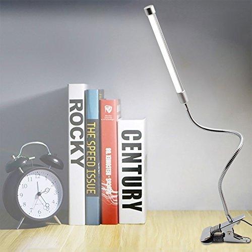 Schreibtischlampe Kaltweiß Klemmleuchte Led Tischlampe Flexbible Leselampe Klemmleuchten 2-Stufen Einstellbar Dimmbare Klappbare Schreibtischlampe [Energieklasse A++]