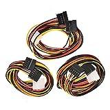 3x SATA 4Y IDE Power Adapter Kabel Pin zu 2x 15Pin 75cm
