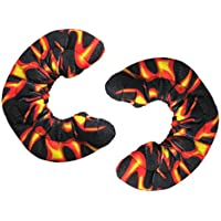 Soft Terry Blade Covers For Ice Skates - Fire