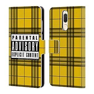 Offizielle Parental Advisory Senf-Plaid Städtischer Straßenstil Brieftasche Handyhülle aus Leder für Huawei Mate 10 Lite