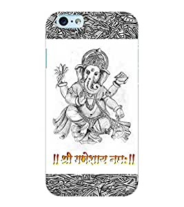 ColourCraft Lord Ganesha Design Back Case Cover for APPLE IPHONE 6