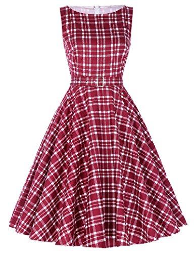 rockabilly kleid vintage kleid 50er festliche kleider sommerkleid damen retro kleid Größe L BP002-15 -
