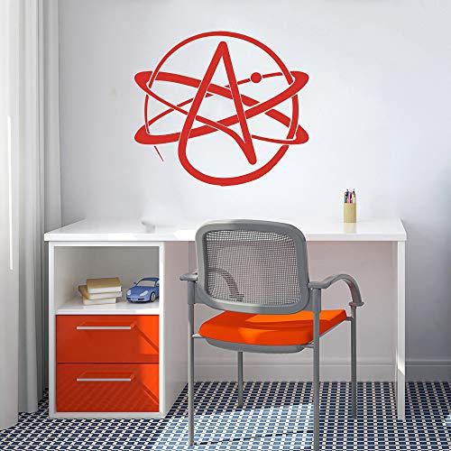 yuandp Atheist Symbol Atom Wissenschaft Labor wandtattoo klassenzimmer Schule Chemie Labor Wissenschaft Atheist wandaufkleber Vinyl Dekoration d 40 * 36 cm