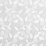 Fabulous Fabrics Organza Corsagen Spitze - wollweiss -