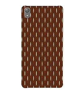 Fiobs Designer Back Case Cover for Sony Xperia E5 Dual :: Sony Xperia E5 (Brown Ethnic Design)
