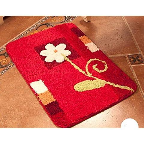 LUN Piccolo tappeto tappetino Zerbino intrecciato bene moderna bambini camera cucina tappeto accento Tappeto ingresso tappeto luminoso bagno morbido durevole, 15,7 '× 23,6 ' , A - Bene Carpet