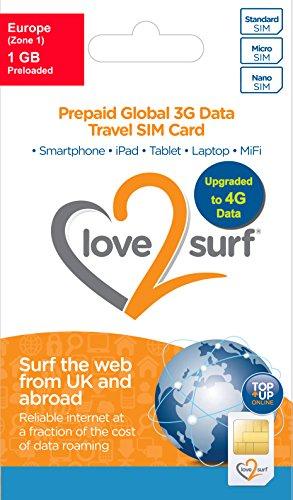 Price comparison product image International 3G / 4G Data Travel Trio SIM Card - EUROPE - (34 EU Countries) -1GB included
