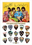 Beatles Yellow Background Gold Médiator Pick Display (Limited to 100)