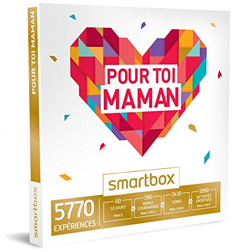 SMARTBOX - Coffret Cadeau - POUR TOI MAMAN - choisir parmi 5770 séjours, repas gourmands, soins de bien-être ou activités sportives Smartbox