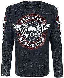 Rock Rebel by EMP Rock and Roll Dreams Come Through Langarmshirt schwarz L