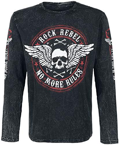Rock Rebel by EMP Rock and Roll Dreams Come Through Camisa Manga...