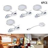 4pcs 12V Innen-LED-Dachflecken-Licht mit Verteiler-Adapter für Wohnmobil, LKW, Wohnwagen, Bus, Boot, Küche, Wohnzimmer