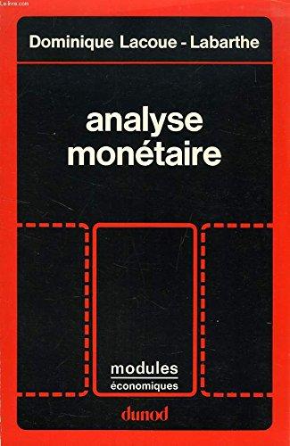 Analyse monétaire
