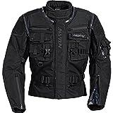 Hellfire Motorradjacke Motorradschutzjacke Funktions-Textiljacke 3.0 schwarz XL