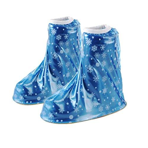 Générique Housses De Pluie Chaussures Fille Garçon Enfant Réutilisable Bottes Couverture Portable Pliant