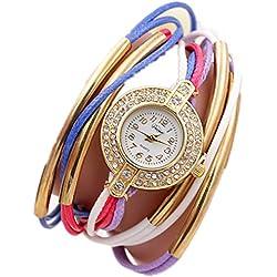 ZWF Uhr Armbanduhr Handgewebte Runde Runde Seil Uhr