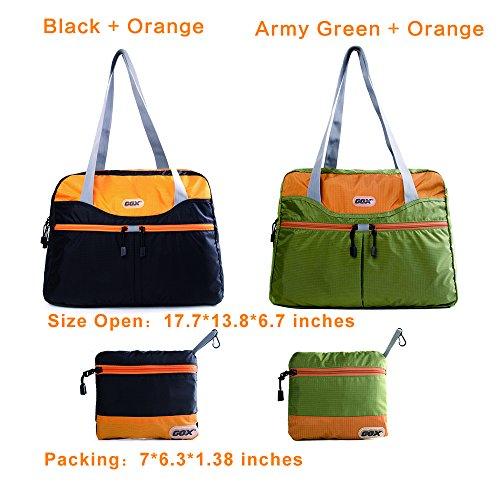 GOX , Borsone  Uomo Donna Green/Orange