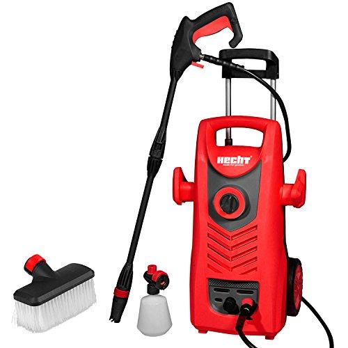 HECHT Elektro-Hochdruckreiniger 320 Hochdruck-Spritzgerät (2000 Watt, inkl. Düse für Punkt- und Breitstrahl, Waschbürste + Reinigungsmittelbehälter) (Elektro-hochdruckreiniger)