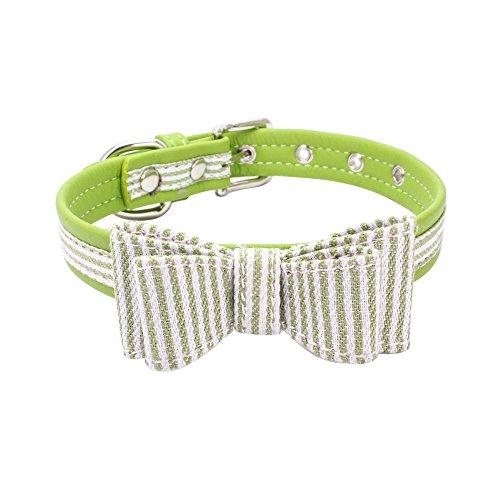 CAOQAO Exquisite Cute Einstellbare Diamant-Bowknot-Haustierhalsbänder - Für kleine Hunde und Katzen - Farbe: Grün/Rot/Schwarz/Himmelblau/Rosa/Rotwein/Pink - Größe 4 (Verkaufs-diamant-ohrringe)