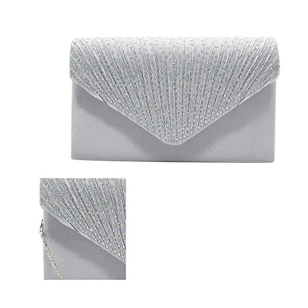 51oMsNncrPL. SS600  - 1PC del Rhinestone del bolso de embrague de cristal brillante de la tarde del sobre del bolso del monedero del bolso…