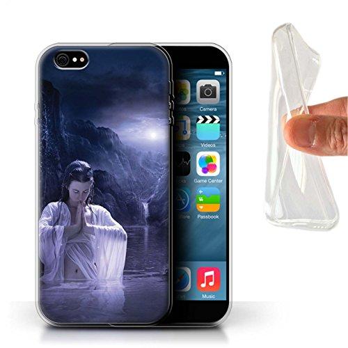 Officiel Elena Dudina Coque / Etui Gel TPU pour Apple iPhone 6S+/Plus / Par le Vent Design / Un avec la Nature Collection Lagune À la Nuit