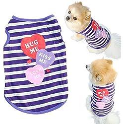 Ropa para Perros,Xinan Camisa del Gato Ropas para Perros Pequeños Chaleco Camiseta (M)