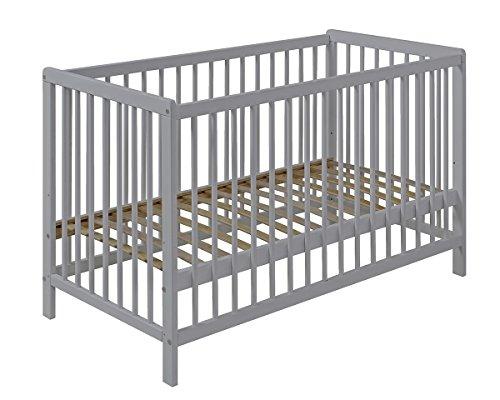 Cuna bebé 120x60 COLOR GRIS barrotes