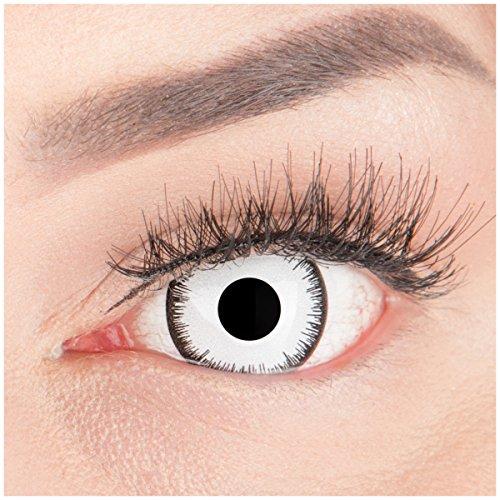 Farbige Mini Sclera Halloween Kontaktlinsen 'Lunatic' - 17mm -