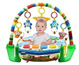 Enlarge toy image: SURREAL (SM) 3 in 1 Baby Piano Play Gym PlayMat Music and Lights - Green