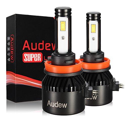 Audew H11 LED 8400LM Kit Lampada Sostituzione per Alogena Lampade e Xenon Luci, Fari Abbaglianti o Anabbaglianti per Auto IP68 Impermeabile, 12V-24V 6000K Bianco