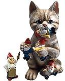By Mark & Margot Gartenzwerg/Gartenzwerg, Mischievous Katze, ideales Kunst-Deko-Geschenk für drinnen und draußen
