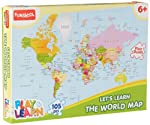 Puzzles are a good way of pacing up your child's cognitive development. Therefore, Funskool the world's leading toy manufacturer has come up with this World Map Puzzles. This floor sized jigsaw puzzle is made of thick cardboard with child friendly...