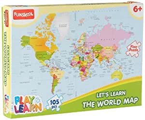Buy funskool play learn world map puzzles online at low prices in funskool play learn world map puzzles gumiabroncs Gallery